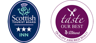 Tourist Scotland 3 Star Inn Award / Taste Our Best Award